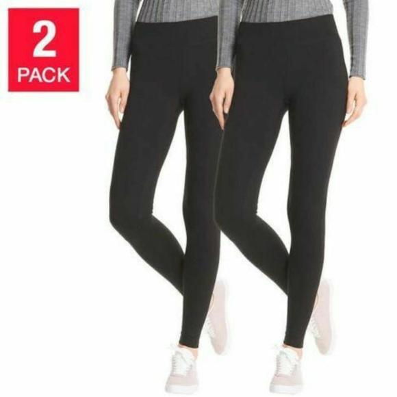 88537d16147c76 HUE Pants | Womens Perfect Fit Cotton Leggings 2 Pk | Poshmark